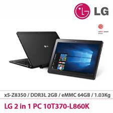 """LG 2in1 Tablet PC 10T370-L860K 10.1"""" x5-Z8350 Quad 2G/64Gb Win10 Touch UPS Black"""