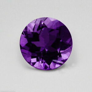 Natural African Amethyst Deep Purple Round Faceted AAA (1mm - 12mm) Loose Stones