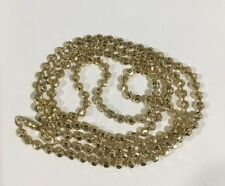 3mm Moon Cut Ball Bead Chain Necklace Solid 10K Yellow Gold 24""