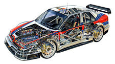 1996 ALFA ROMEO 155 RACE CAR CUTAWAY POSTER PRINT 20x36 HIGH RES