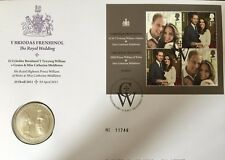 GB QEII  PNC COIN COVER 2011 WILLIAM + CATHERINE WEDDING £5 Coin ROYAL MINT