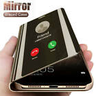 For Samsung S21 S20 Ultra FE A12 A52 21s Smart View Mirror Flip Stand Phone Case
