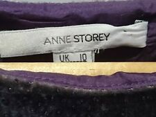 VINTAGE ANNE STOREY Velvet Sparkle Pencil Dress 10
