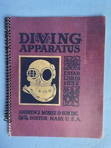 DIVING APPARATUS 1837 J Morse Diving Equipment 1937 Ed. Catalogue Reprint Signed