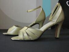 High Heels Damenschuhe Schuhe Sandalen 39 Leder beige 80er TRUEVINTAGE 80s NOS