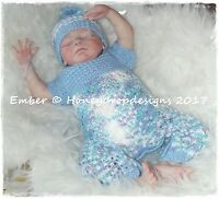 HONEYDROPDESIGNS * EMBER * PAPER KNITTING PATTERN * 0-12 MONTHS (4 Sizes)
