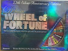 Deluxe Wheel of Fortune 25th Silver Anniversary Edition Pressman New In Box Nib