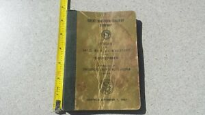 1957 Great Northern Railway Switchmen Rate Rules Regulations Book