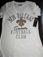 New Orleans Saints Women's NFL Team Apparel Stone Wash V neck Tee Shirt