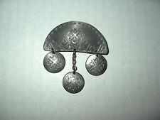 Vintage Artisan Signed ROLF BUODD Norsk Handarbeide Pewter Modernist Brooch Pin