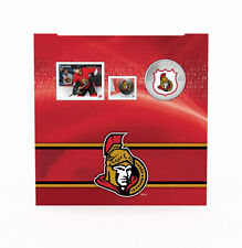 2014 Canada NHL COIN AND STAMP GIFT SET - Ottawa Senators, 25 Cent Colorized