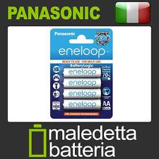 4 Batterie Stilo Ricaricabili Pronte all'uso  Eneloop Stilo AA 2000mAh (SP5)