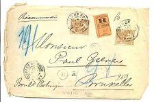 NEDERLAND 1906  REG CV TO BELGUIM  # 64 ( 2 x )   FINE  FAULTS