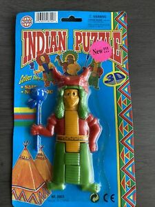 Vintage Native American 3D Indian Puzzle Justen Toys Mayen Incan