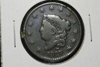1827 Coronet Head Large Cent, VG