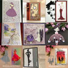 Woman Dress Cutting Dies Scrapbooking Cut Stamps Embossing Paper Cards Craft DIY