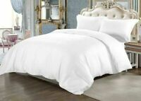 Hotel~Quality 1000 TC 100%Egyptian Cotton Sheet/Duvet/Fitted UK Size White Solid
