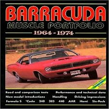 Plymouth Barracuda Muscle Portfolio 1964-1974  book paper car