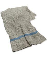 Ralph Lauren Gravesend Lambwools Blend Throw Blanket Grey/Light Blue $330 H5054