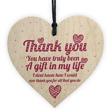 Thank You Gift Colleague Teacher Mentor Nursery Nurse Friendship Wood Heart Gift