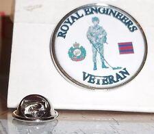 HM Armed Forces Royal  Engineers Veteran lapel pin badge .