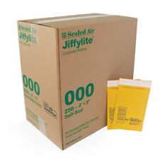 Pack of 250 Jiffylite #000 Kraft Bubble Mailer 4x8 inch