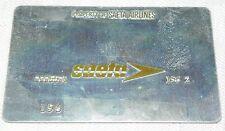 Rare Vintage Saeta Airlines Metal Ticket Validation Plate Travel Agency