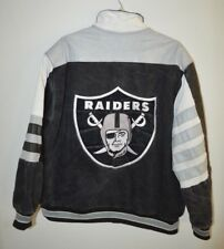 Rare VTG Jeff Hamilton NFL Oakland Raiders Denim / Leather Varsity Jacket Men L