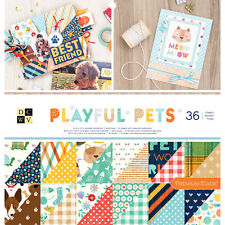 """American Crafts DCWV 12"""" X 12"""" Playful Pets Cardstock - Glitter, 36 Sheets"""