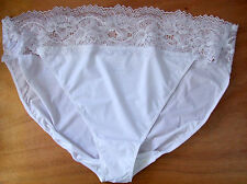 Ladies M & S Size 20 Lacy Bikini Knickers Panties Briefs White