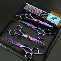6/7 inch Pet Dog Hair Grooming Scissors Set Cutting & Curved & Thinning Shears