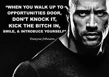 DWAYNE JOHNSON THE ROCK WRESTLING INSPIRATIONAL QUOTE POSTER PRINT PICTURE (2)