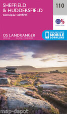 SHEFFIED & HUDDERSFIELD LANDRANGER MAP 110 - Ordnance Survey - OS - NEW 2016