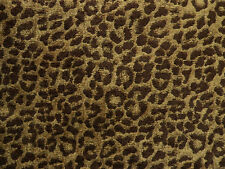 Drapery Upholstery Fabric Chenille Animal Print Leopard Brown Spots / Golden Tan