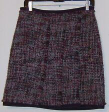 Etcetera Skirt Size 10  New w/ Tags $165 Blue Brown Burgundy Potion Nubby Textur