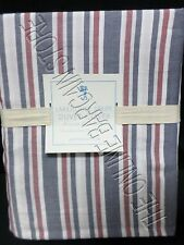 Pottery Barn Kids Lakehouse Stripe Bed Duvet Cover Full Queen FQ Navy