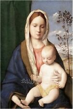 CATHOLIC VIRGIN MARY MADONNA MOTHER CHILD RELIGIOUS vintage CANVAS ART print