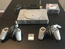 Sony Playstation 1 PS1 SCPH-1001 Audiophile, 2 Controllers, Games Bundle TESTED