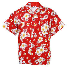 Hawaiian Shirt Aloha Hibiscus Chaba Leisure Beach Holiday Red M hb265r