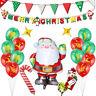 40pcs Santa Claus Candy Cane Foil Balloon Banners Xmas Christmas Party Decor