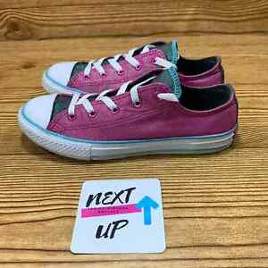 Converse Chuck Taylor All Star Low Pink Glitter Shoe Girl's size 3