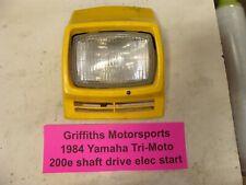 1984 Yamaha Tri-Moto 200E shaft oem headlight shroud lens dash head light cover