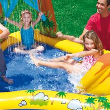 Intex Dinosaur Paddling Pool Play Centre - 57444 - With A Waterfall & Slide