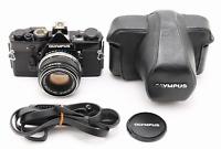 [N Mint w/ Case] OLYMPUS OM-1 Black SLR + F.Zuiko Auto-S 50mm F1.8 from JAPAN