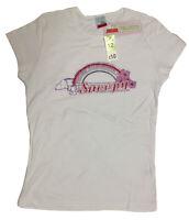 Womens Ladies Snoopy Peanuts Novelty White Gym Tank T Shirt 100% Cotton New BNWT