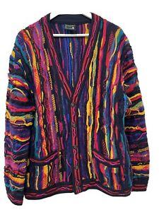 Rare Authentic Coogi 3D Knit Cardigan 1990s