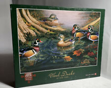 "Willow Creek 'Wood Ducks' 1000 Piece Jigsaw Puzzle 27""x19"" Made In The USA"
