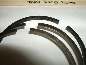 z TRIUMPH 650 set of 3 piston rings @ Std for 6T, T110,TR6,T120 @ 71mm €FB SEP21