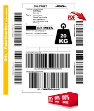 20kg DHL ORIGINAL Paket Paketmarke Paketschein POST Paketlabel GERMANY