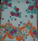 VINTAGE TABLECLOTH RED STRAWBERRIES FRUIT
